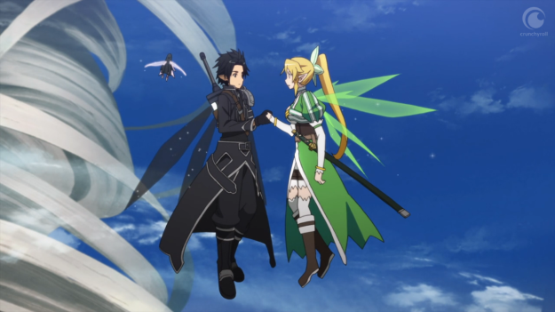 """Been nice knowin' ya, Leafa. Maybe if you made me a sandwich, we would've had something. 'k, bye!"""