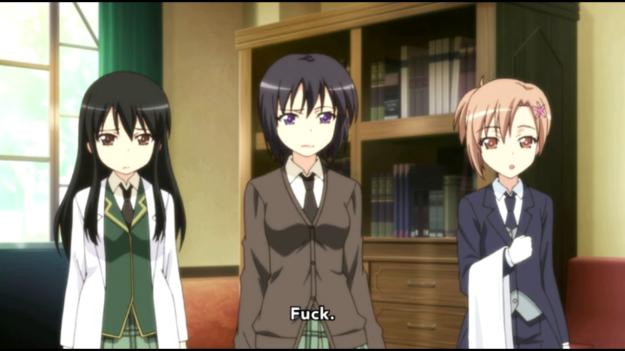 Whoa, looks like Yukimura caught one of Rika's F-bombs.