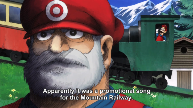 I'm pretty sure Luigi never rode a train... or wore red overalls. Way to misrepresent Year of Luigi in its last days, Hozuki.