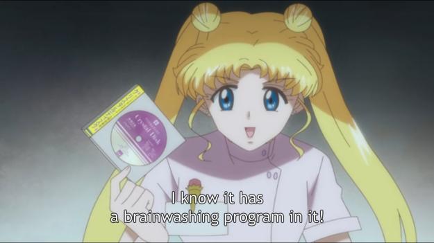"""Yeah, that brainwashing program also made my hair seriously deformed."""