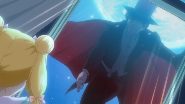 Yeah, as cute as it may seem, Tuxedo Mask showing up in Usagi's bedroom while she's asleep is actually kinda creepy.