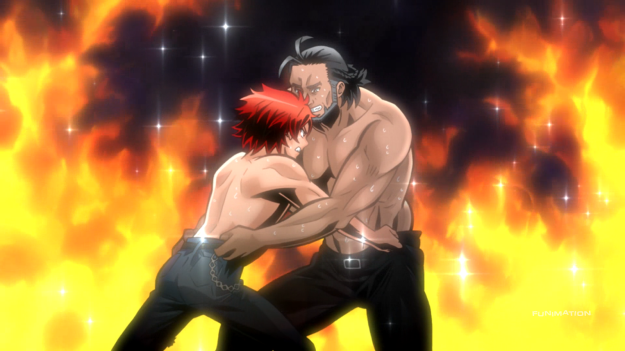 Somehow, I'm able to take two shirtless guys manhandling each other more seriously than anything else in this show.