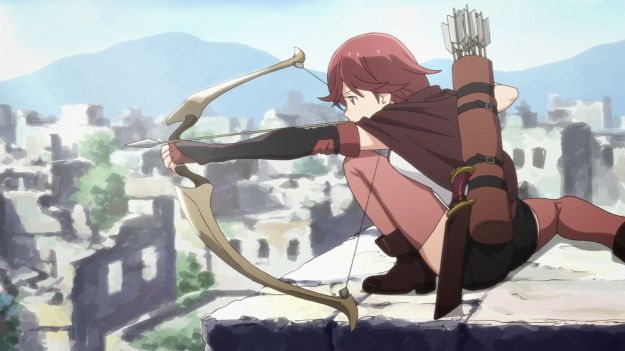 I'm beginning to think the designer who drew this scene knows precisely nothing about the human anatomy nor archery.