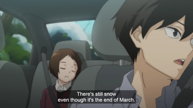 Oh, look at that. The first spoken lines reference real life, just like Flying Witch did. Anime is becoming too real.
